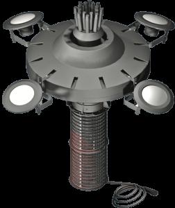 vertical select series 2 floating lake aerator assembly diagram