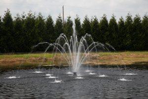 Pentalator pattern - Fusion floating pond fountain - Heathland Fountains and Aerators, Norfolk, UK