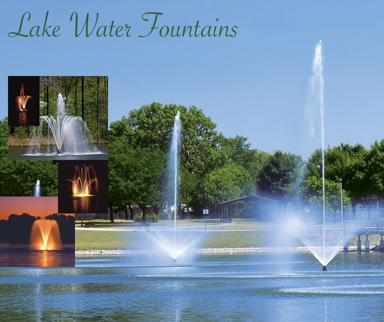 Lake fountains, Lake water fountains, Heathland fountains and aerators UK