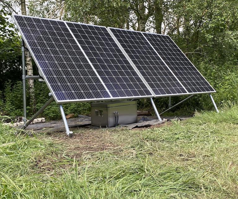 SolarAir solar powered diffused reservoir aerator from Heathland Fountains and Aerators